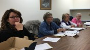 Our board watches intently...
