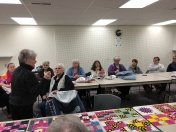 """Elsie Gaber talks about the """"Be a Buddy"""" quilt made for Rotary."""