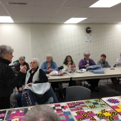 "Elsie Gaber talks about the ""Be a Buddy"" quilt made for Rotary."