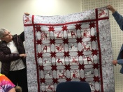 Check out Kathy's lovely red/white quilt.