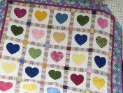 Peggy's darling heart quilt.