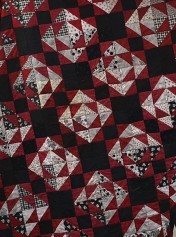 And Kay finished this Bonnie Hunter quilt.