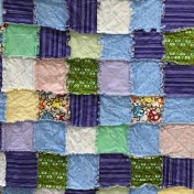 Another great rag quilt made by Sarah.
