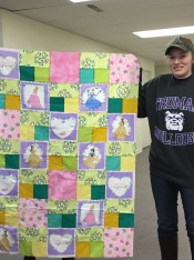 "Sarah Spearman finished her ""Princess"" quilt."
