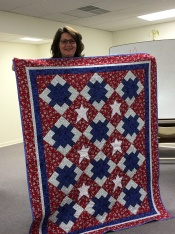 Andrea tells the story behind this Veteran's quilt.