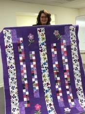 Andrea O'Brien's purple beauty!