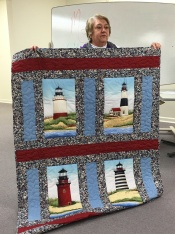 And look at this darling lighthouse quilt by Joan.