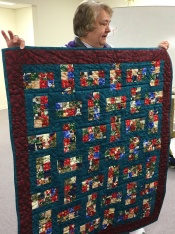 Joan Harrison has several quilts to share.
