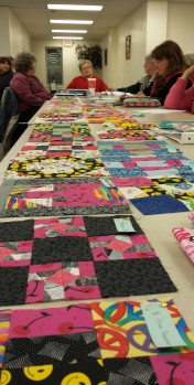 """Look at all the blocks for the """"Be a Buddy"""" quilt."""
