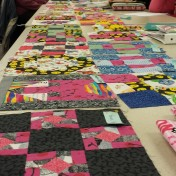 "Look at all the blocks for the ""Be a Buddy"" quilt."