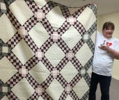 Maria tells the story about this striking quilt.