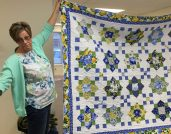 Kim Sampson made this awesome quilt for a friend.