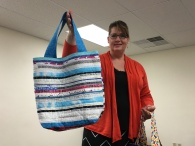 Andrea made a selvage bag, too!