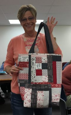 Kim Sampson made a bag using Andrea's instructions.