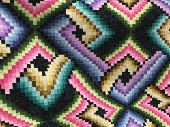 Closeup of Gyla's beautiful quilt.