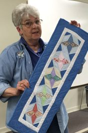 Bonnie shows her pretty table runner,