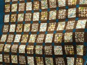 Brenda Moore's fishing-themed quilt for her grandson.