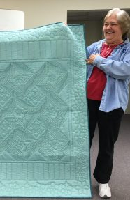 Back of Joan's quilt.