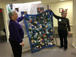 Scrappy 4 Patch quilt. Program given by Meredith and Elsie.